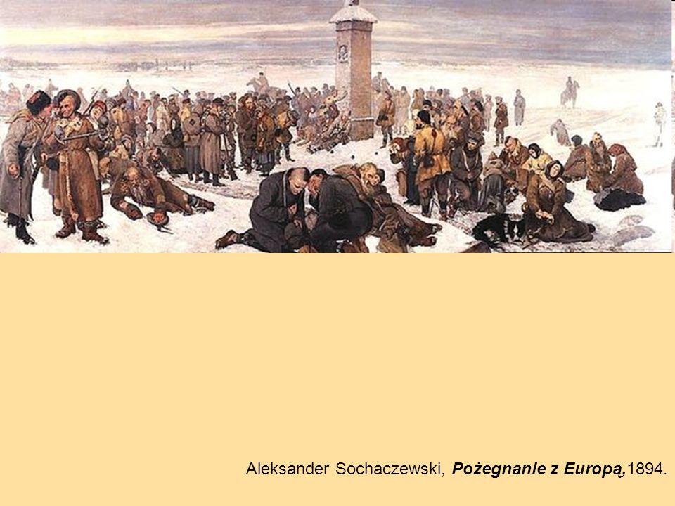 Aleksander Sochaczewski, Pożegnanie z Europą,1894.