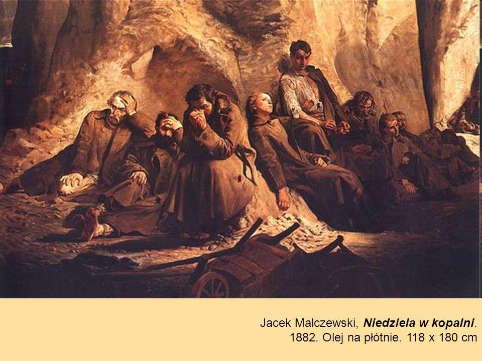Jacek Malczewski, Niedziela w kopalni.