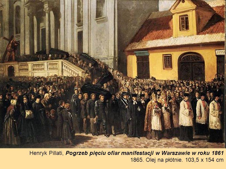 Henryk Pillati, Pogrzeb pięciu ofiar manifestacji w Warszawie w roku 1861