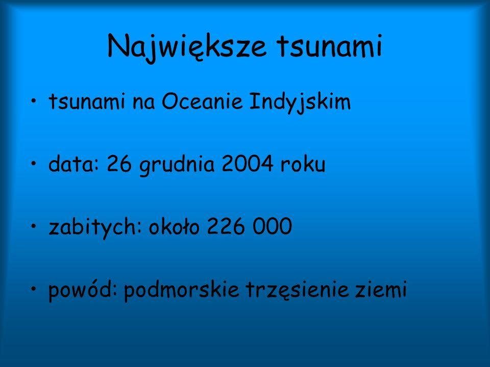 Największe tsunami tsunami na Oceanie Indyjskim