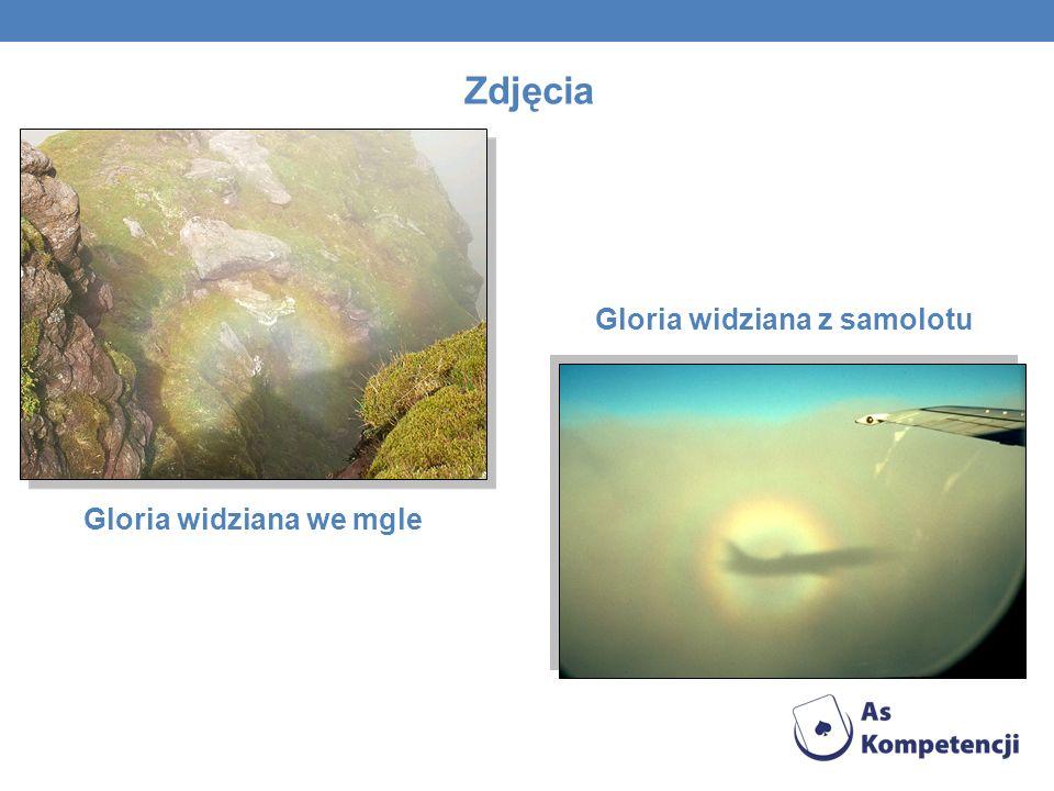 Gloria widziana z samolotu Gloria widziana we mgle