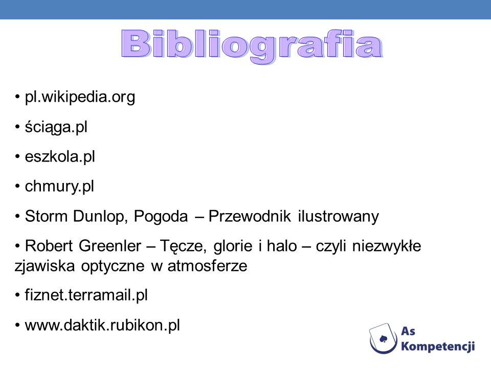 Bibliografia pl.wikipedia.org ściąga.pl eszkola.pl chmury.pl