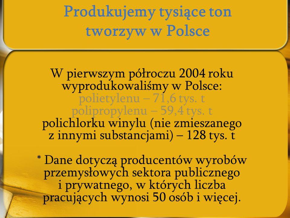 Produkujemy tysiące ton tworzyw w Polsce