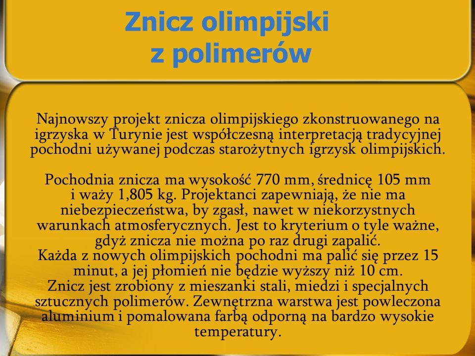 Znicz olimpijski z polimerów