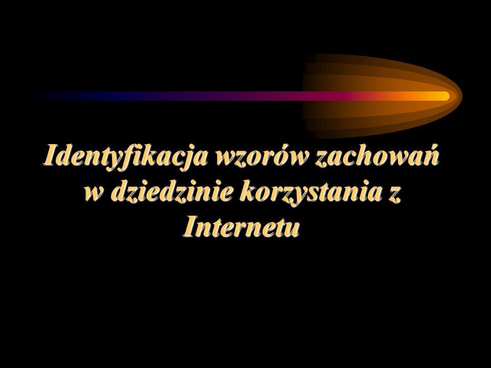 Identyfikacja wzorów zachowań w dziedzinie korzystania z Internetu