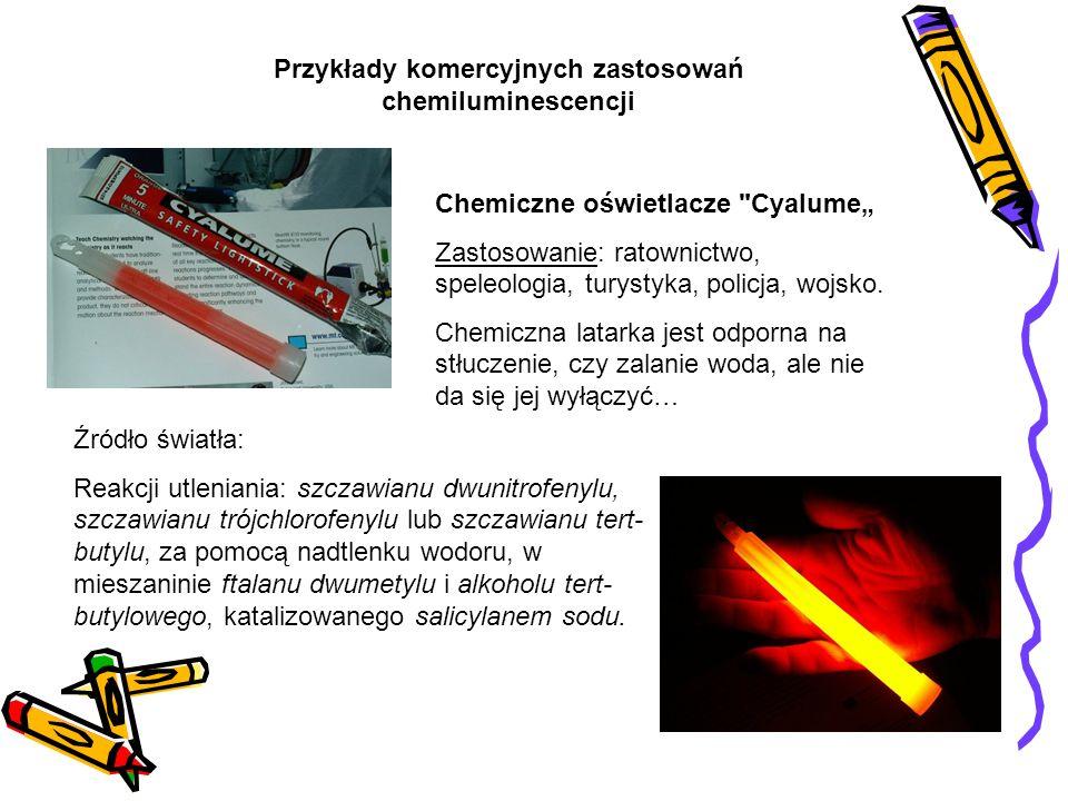 Przykłady komercyjnych zastosowań chemiluminescencji