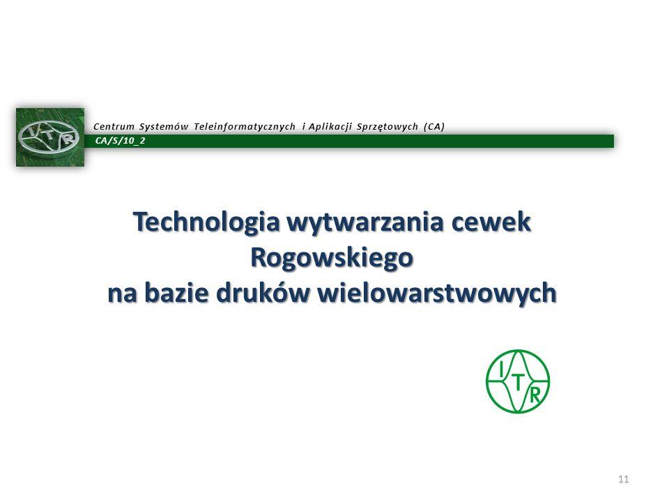 Technologia wytwarzania cewek Rogowskiego