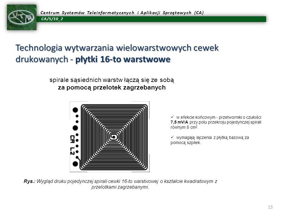 Technologia wytwarzania wielowarstwowych cewek drukowanych - płytki 16-to warstwowe