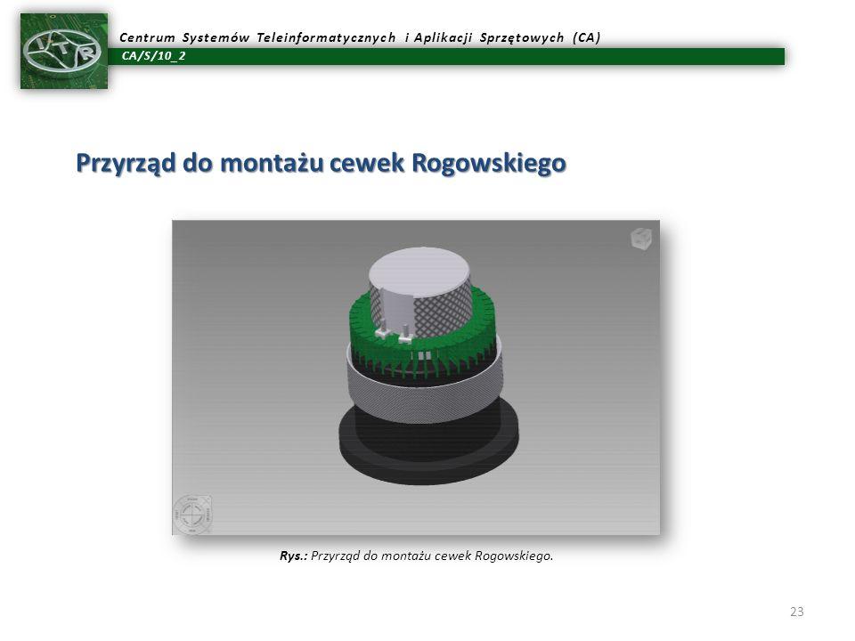 Rys.: Przyrząd do montażu cewek Rogowskiego.