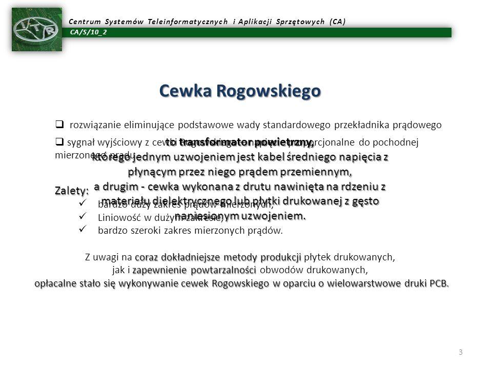 Cewka Rogowskiego to transformator powietrzny,