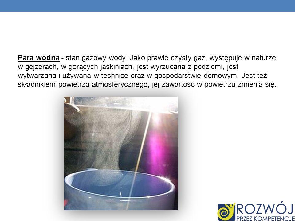 Para wodna - stan gazowy wody