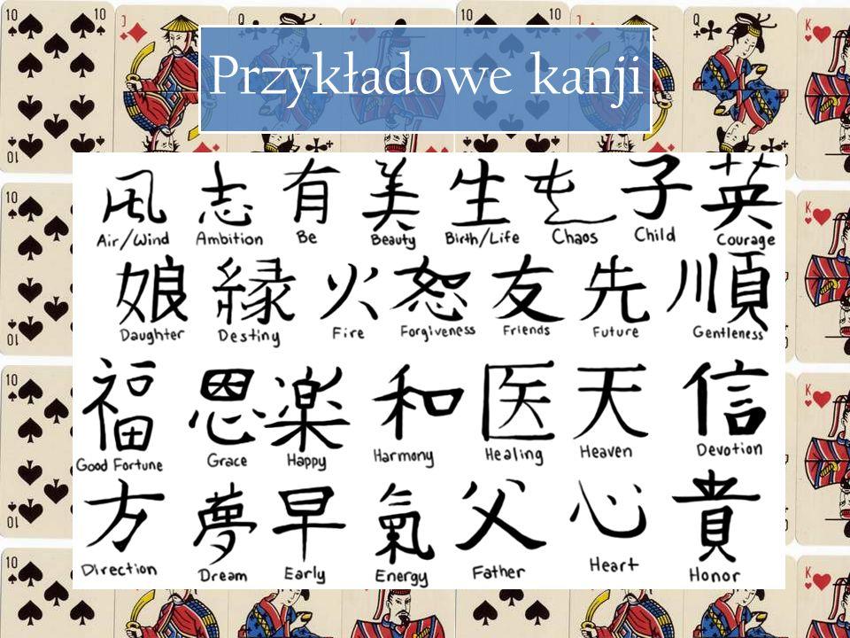 Przykładowe kanji