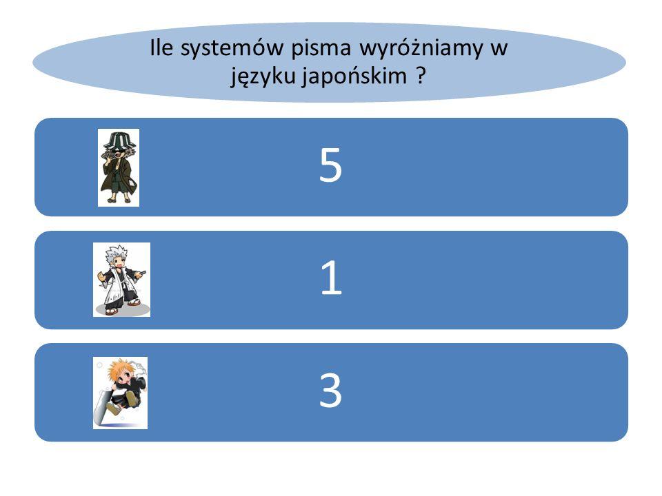 Ile systemów pisma wyróżniamy w języku japońskim