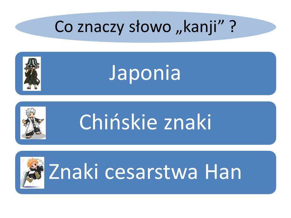 """Co znaczy słowo """"kanji"""