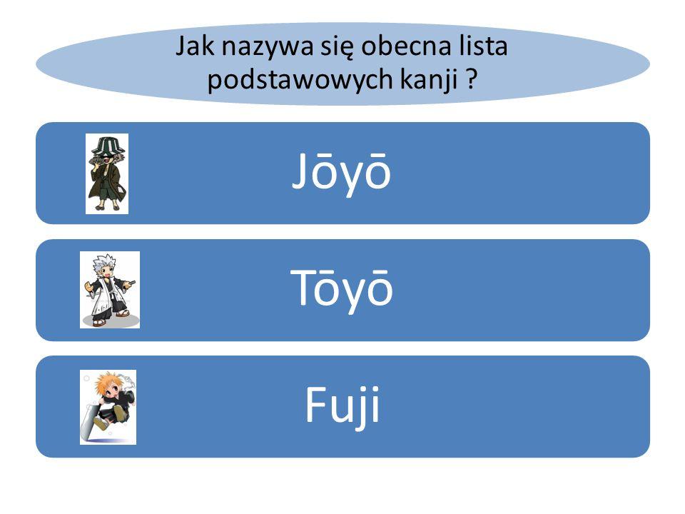 Jak nazywa się obecna lista podstawowych kanji