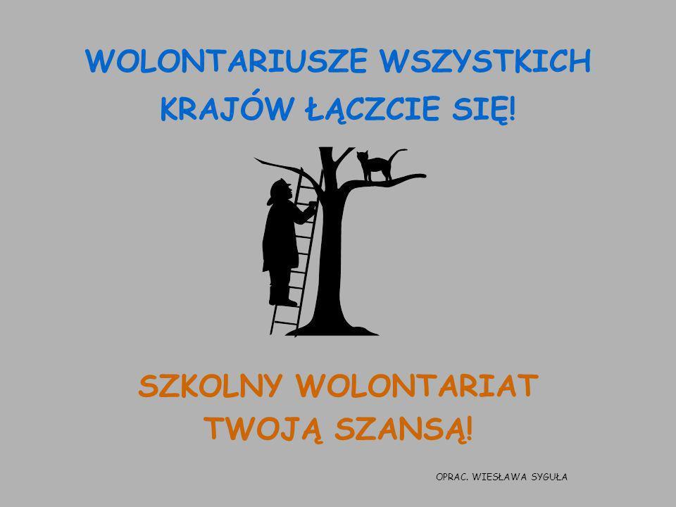 WOLONTARIUSZE WSZYSTKICH KRAJÓW ŁĄCZCIE SIĘ!