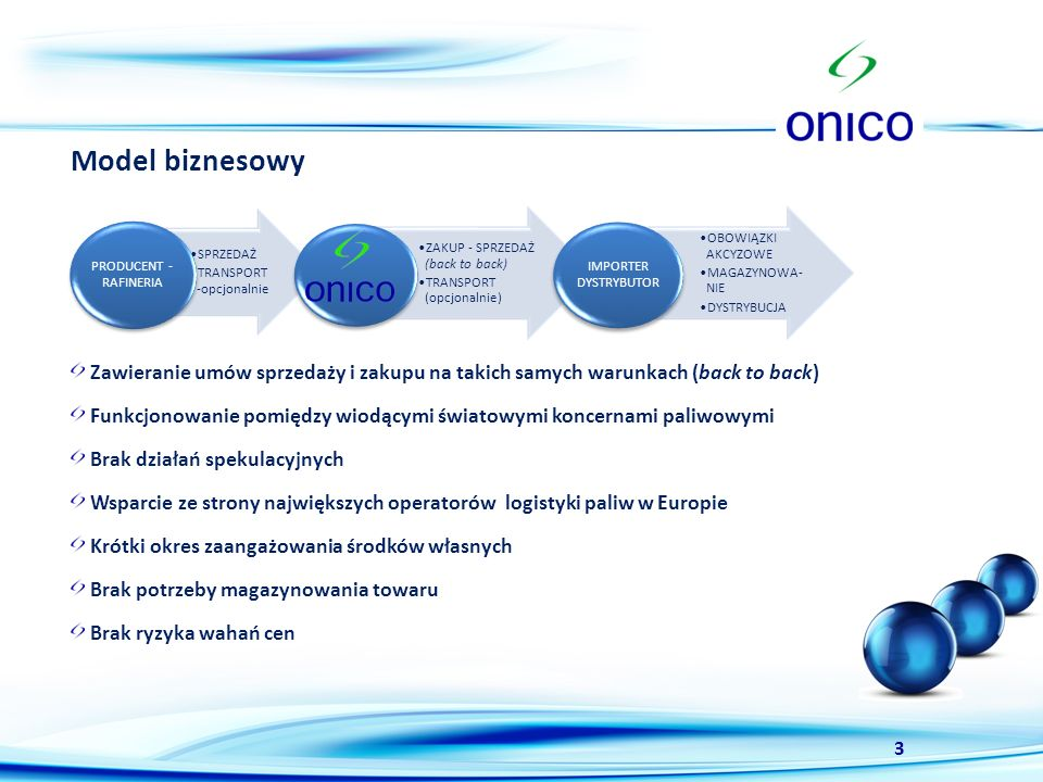 Model biznesowy SPRZEDAŻ. TRANSPORT -opcjonalnie. PRODUCENT - RAFINERIA. ZAKUP - SPRZEDAŻ (back to back)
