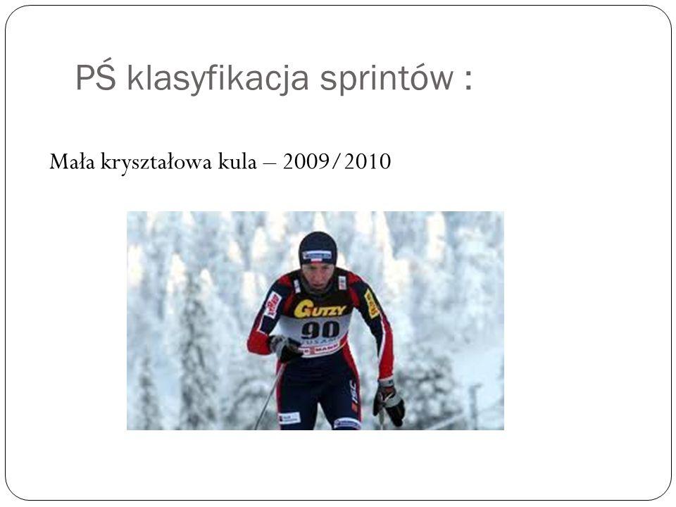 PŚ klasyfikacja sprintów :