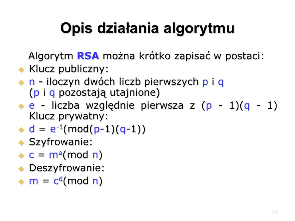 Opis działania algorytmu