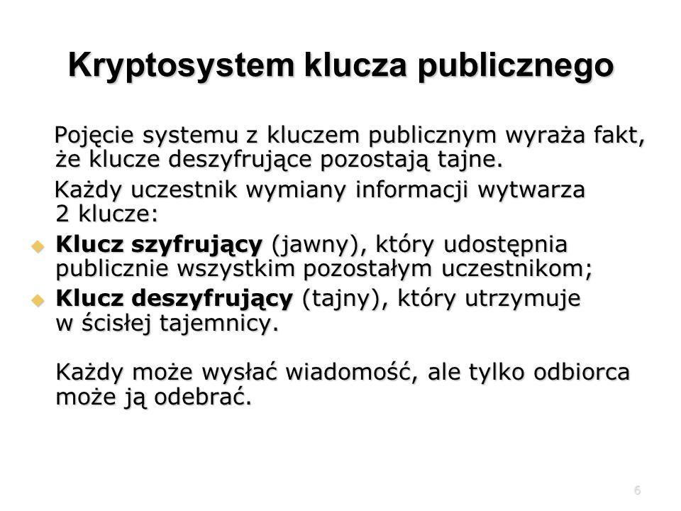Kryptosystem klucza publicznego