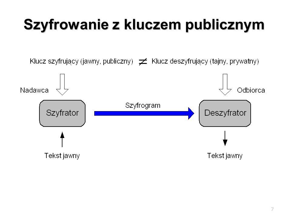 Szyfrowanie z kluczem publicznym