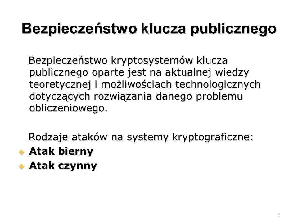 Bezpieczeństwo klucza publicznego