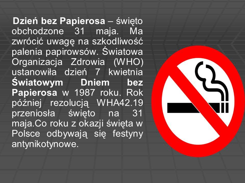 Dzień bez Papierosa – święto obchodzone 31 maja