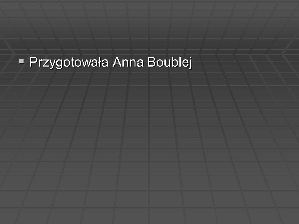 Przygotowała Anna Boublej