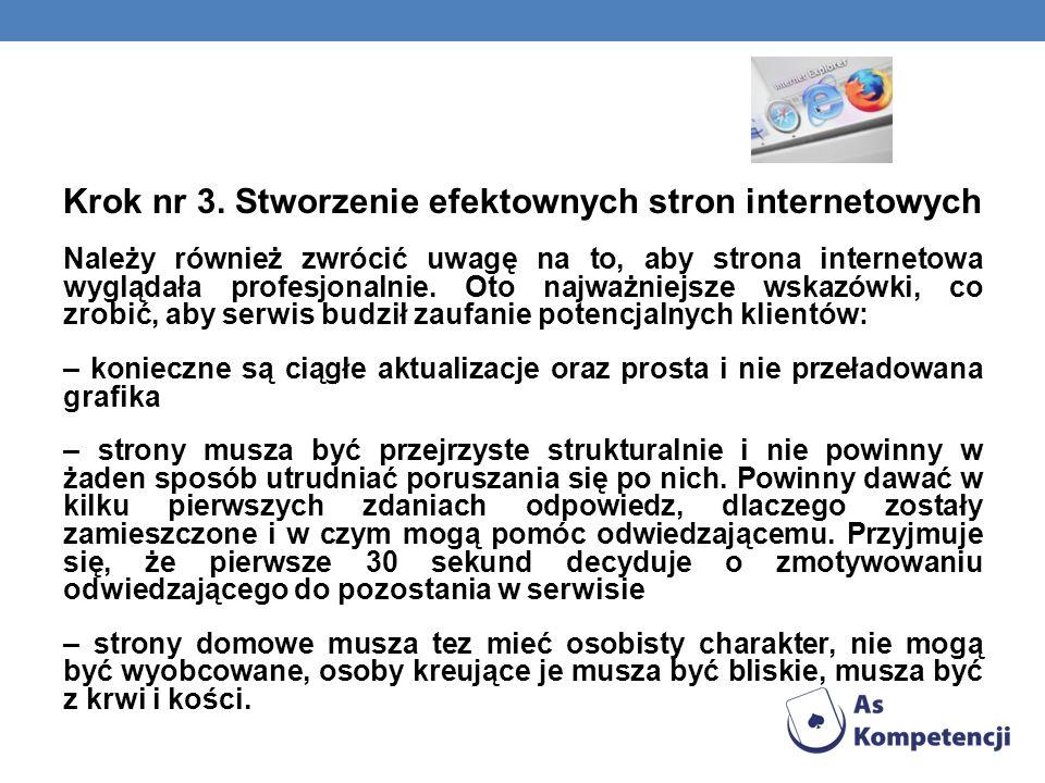Krok nr 3. Stworzenie efektownych stron internetowych