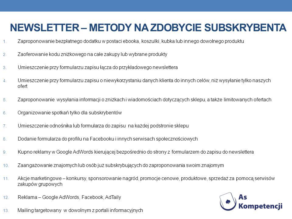 Newsletter – metody na zdobycie subskrybenta