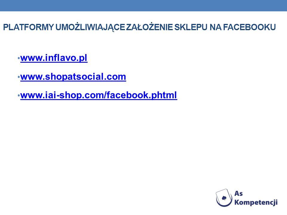 Platformy umożliwiające założenie sklepu na facebooku