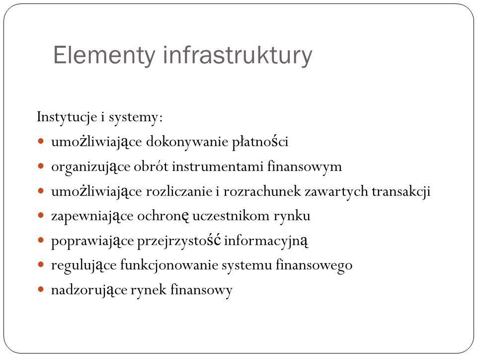 Elementy infrastruktury