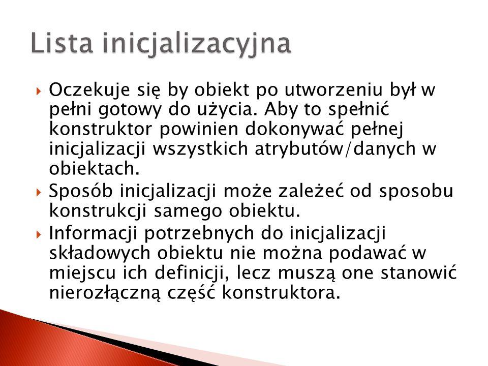 Lista inicjalizacyjna