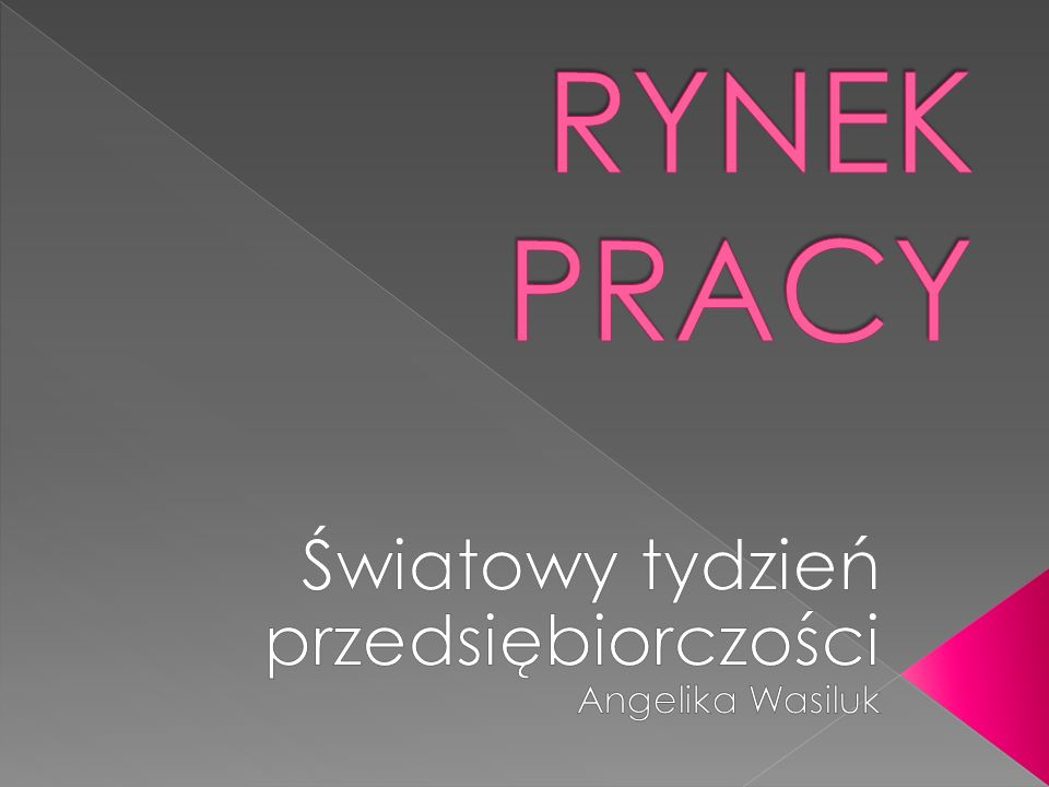 Światowy tydzień przedsiębiorczości Angelika Wasiluk