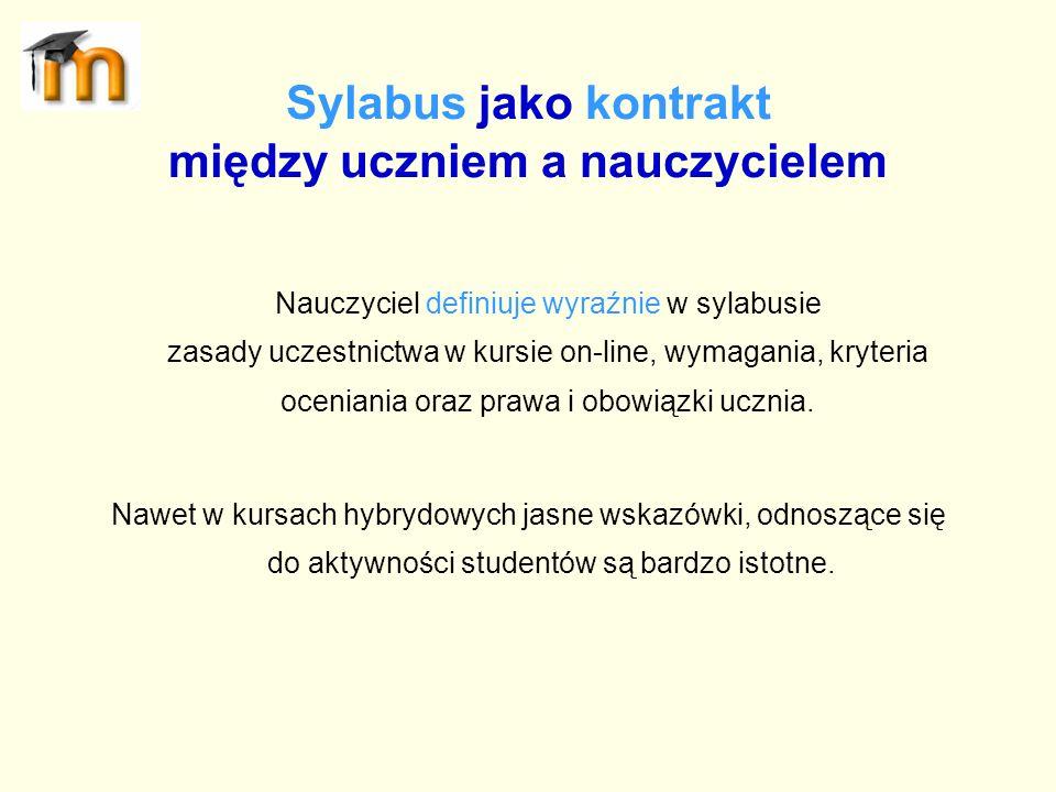 Sylabus jako kontrakt między uczniem a nauczycielem