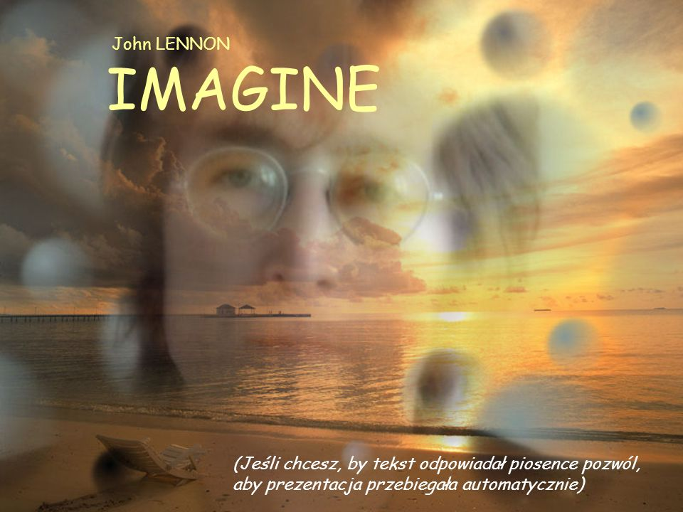 John LENNON IMAGINE.