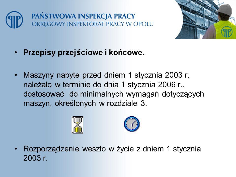 Przepisy przejściowe i końcowe.