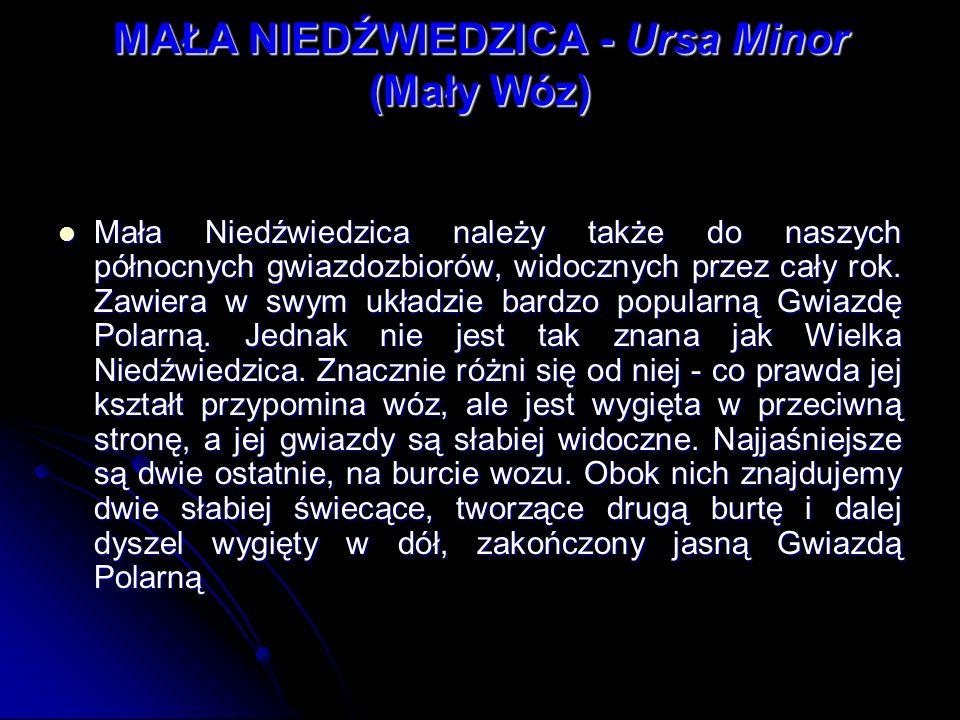 MAŁA NIEDŹWIEDZICA - Ursa Minor (Mały Wóz)