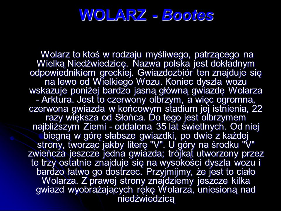 WOLARZ - Bootes