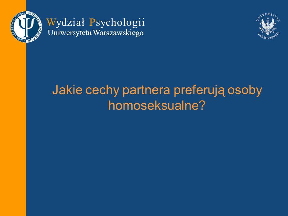 Jakie cechy partnera preferują osoby homoseksualne