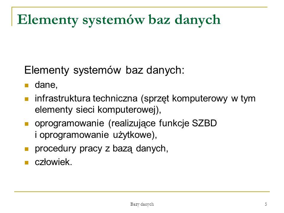 Elementy systemów baz danych