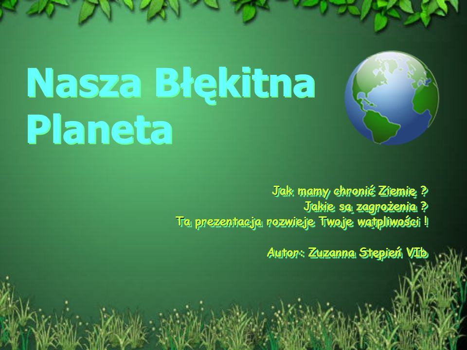 Nasza Błękitna Planeta