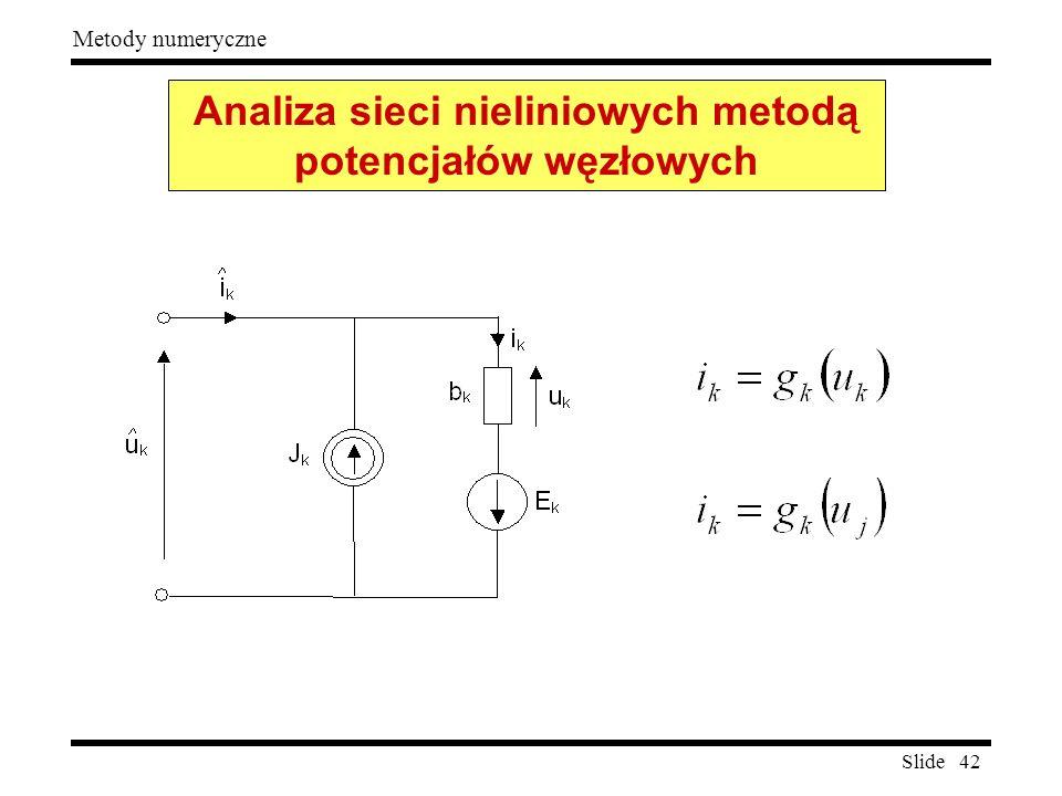 Analiza sieci nieliniowych metodą potencjałów węzłowych