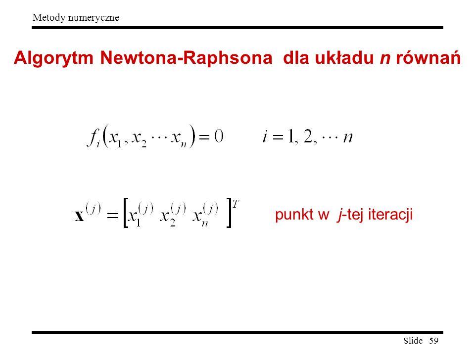 Algorytm Newtona-Raphsona dla układu n równań