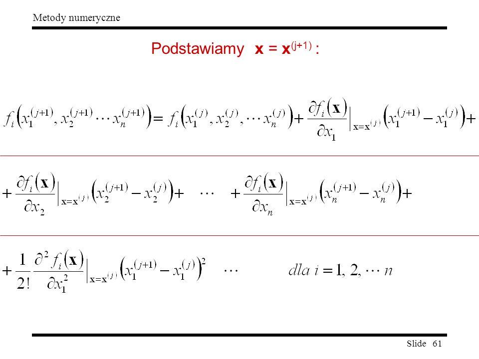 Podstawiamy x = x(j+1) :