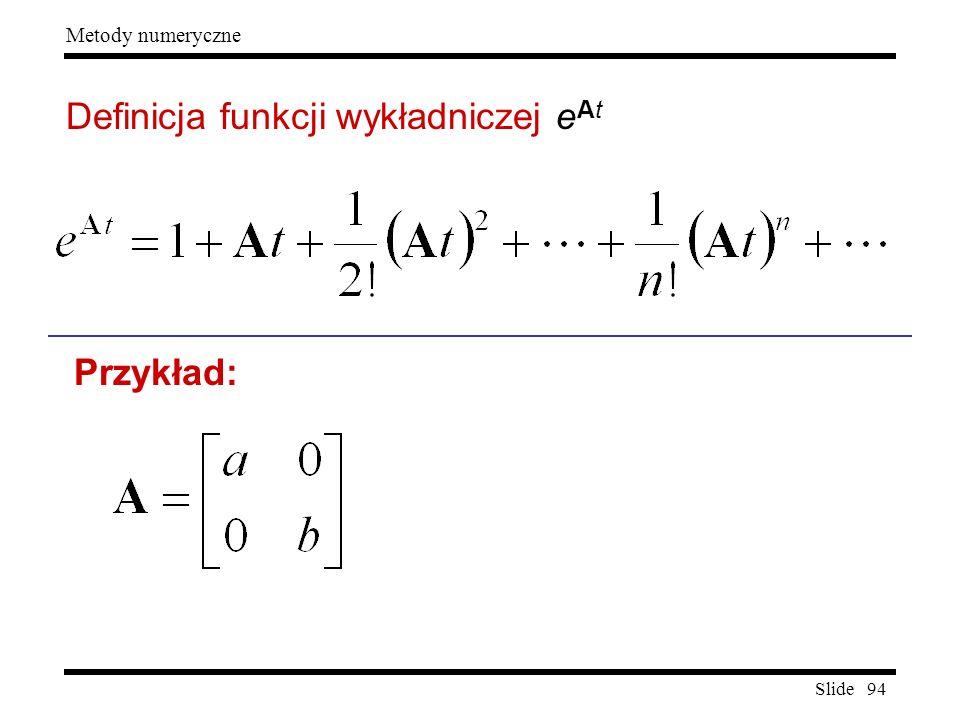 Definicja funkcji wykładniczej eAt