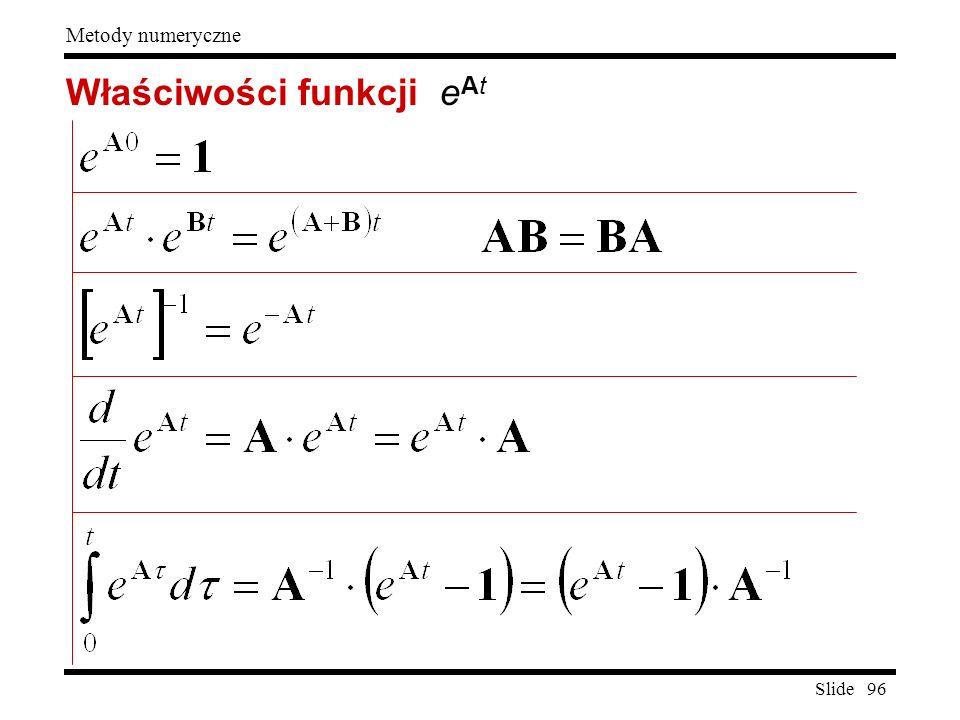Właściwości funkcji eAt