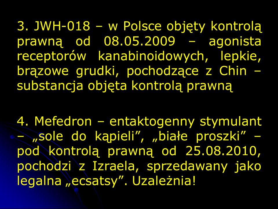 3. JWH-018 – w Polsce objęty kontrolą prawną od 08. 05