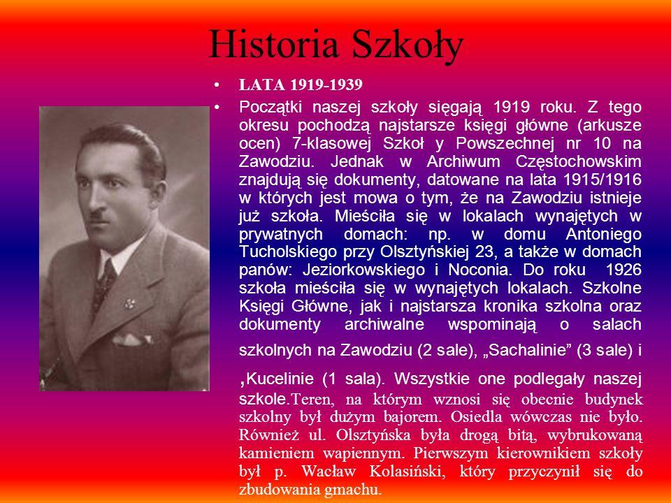 Historia Szkoły LATA 1919-1939.