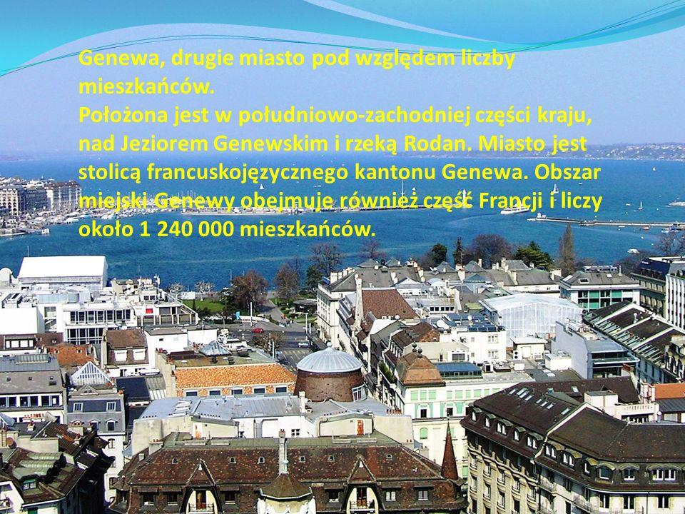 Genewa, drugie miasto pod względem liczby mieszkańców